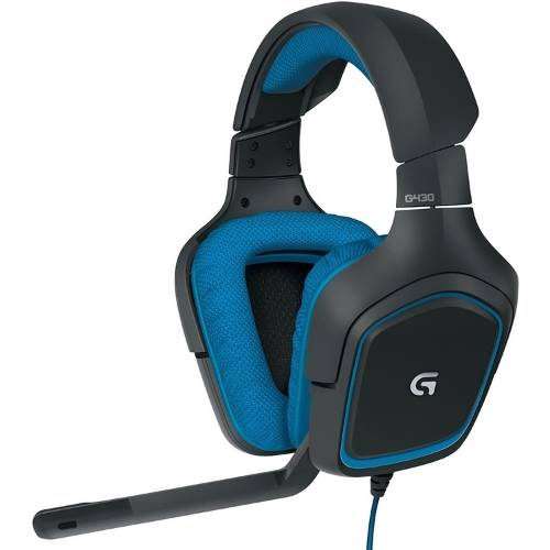 Logitech G430 Headset in Black and Blue Color