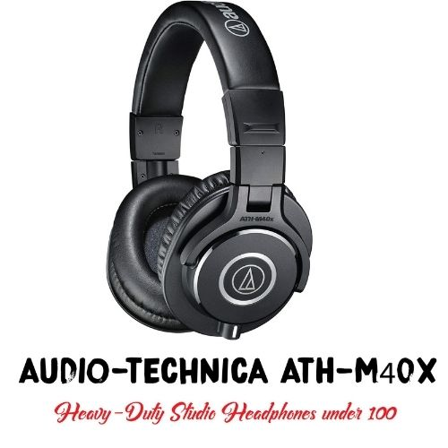 A Picture of Audio-Technica ATH-M40x with their Name